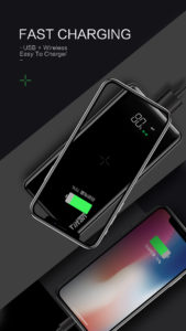 Tiitan CRUZ 8000mAh Li-Polymer Qi Wieless Power Bank With Dual USB Port Compatible with Smart phones Tablets and Support Qi enabled Devices (P8)