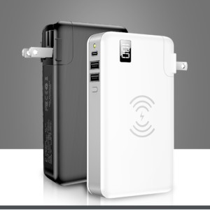 SC02 Tiitan Intelligent Charger 10000 Mah Qi Enabled Wireless Power Bank Detachable USB Wall Charger for iPhone X/8/Samsung Galaxy S9/S8/S7 Note 8 and Galaxy S10