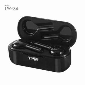 TIITAN True Wireless Earbuds Bluetooth 5.0 Earphones for High Definition Hands-Free Music and Calls with Mic and Touch Controls & Portable Carrying Charging Case TW-X6